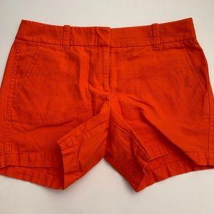 J Crew orange chino shorts